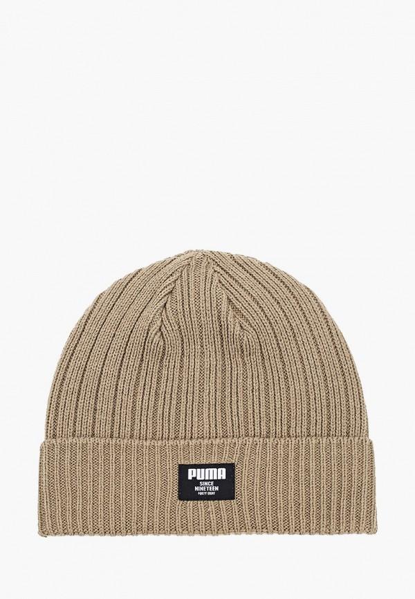 женская шапка puma, хаки