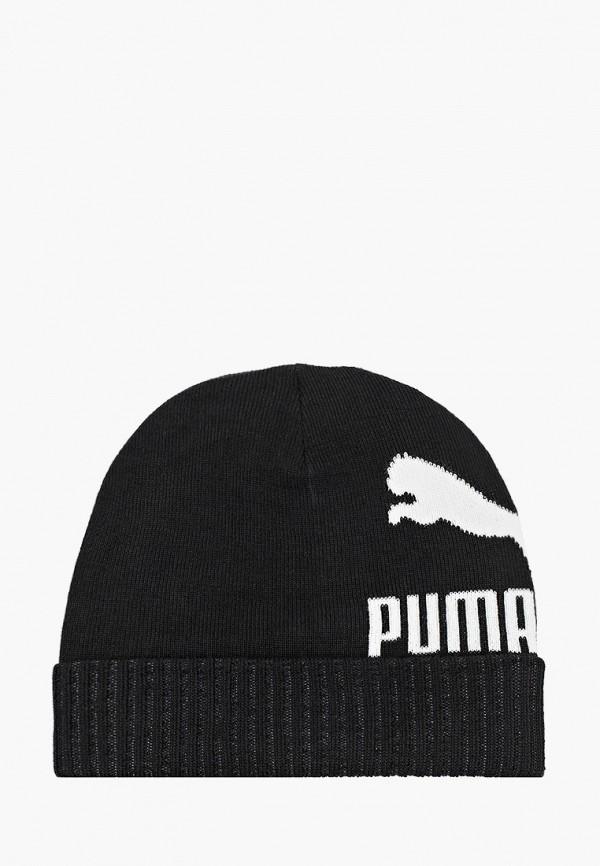 женская шапка puma, черная