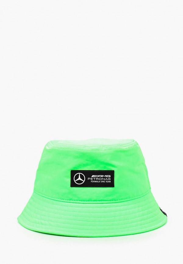 женская панама puma, зеленая