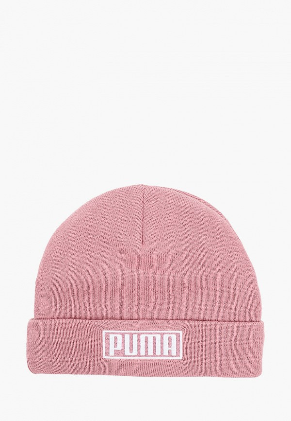 женская шапка puma, розовая