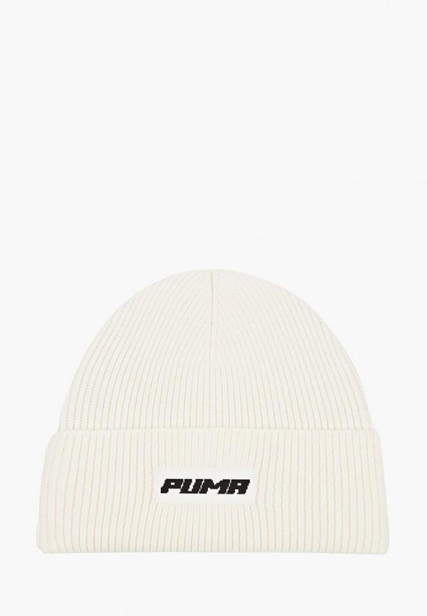 женская шапка puma, белая