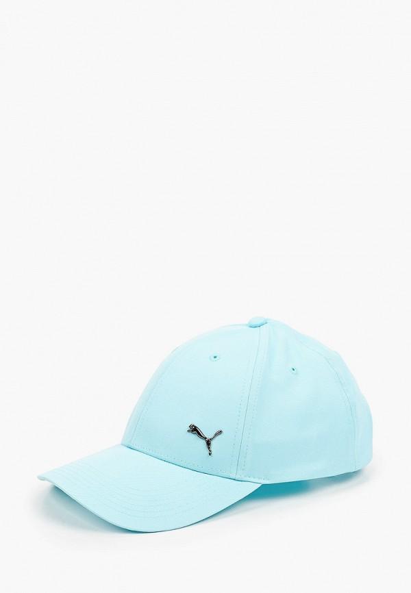 женская бейсболка puma, голубая