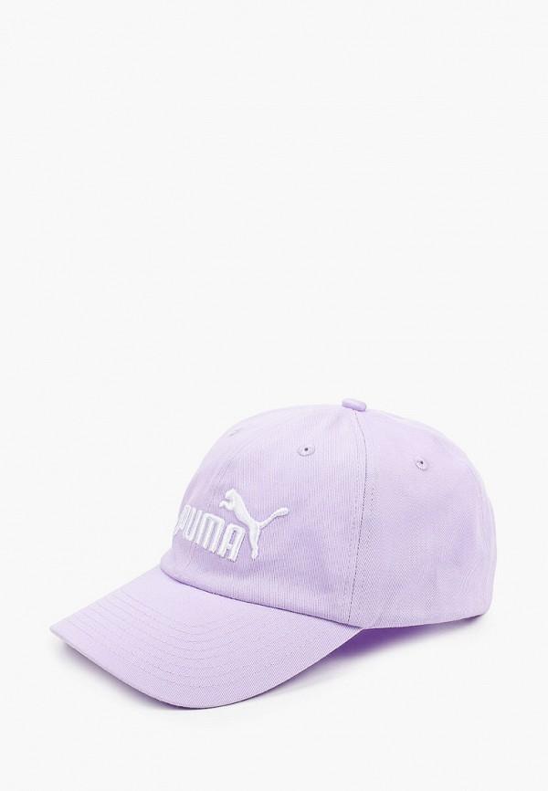 женская бейсболка puma, фиолетовая