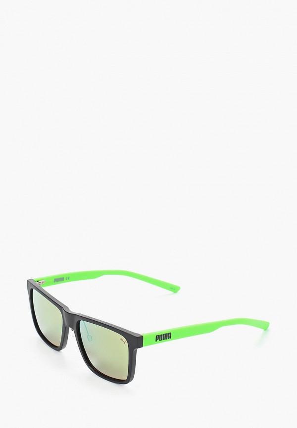 мужские квадратные солнцезащитные очки puma, зеленые
