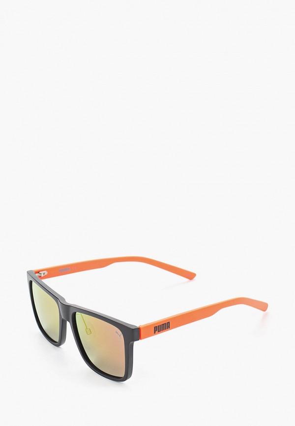мужские квадратные солнцезащитные очки puma, оранжевые