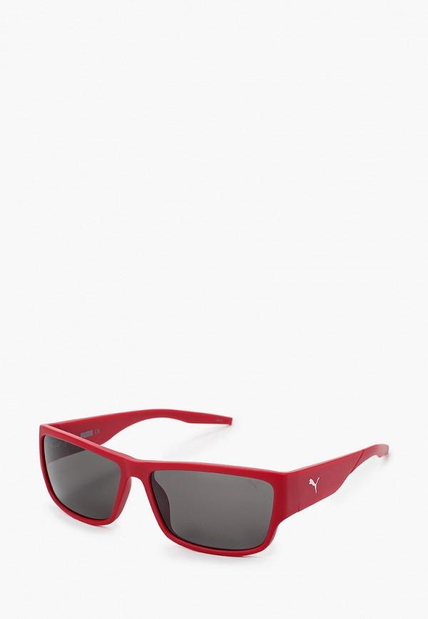 мужские квадратные солнцезащитные очки puma, бордовые