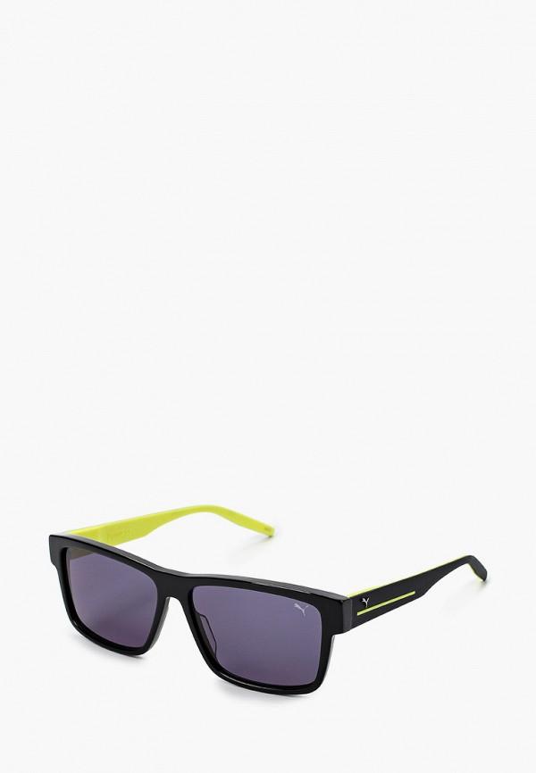 мужские квадратные солнцезащитные очки puma, черные