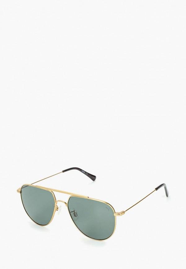женские солнцезащитные очки puma, золотые
