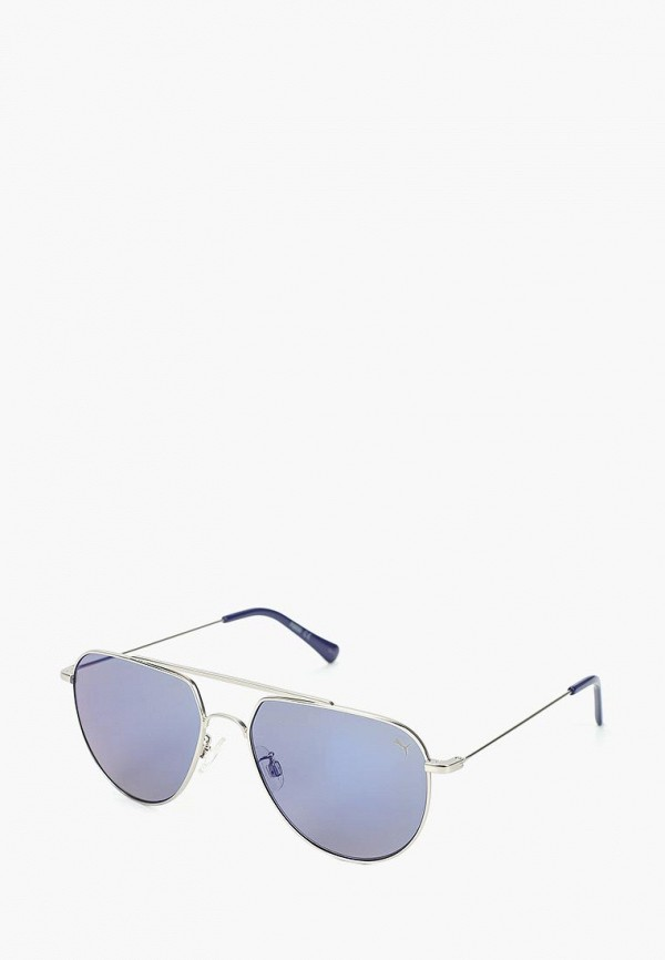 женские солнцезащитные очки puma, серебряные