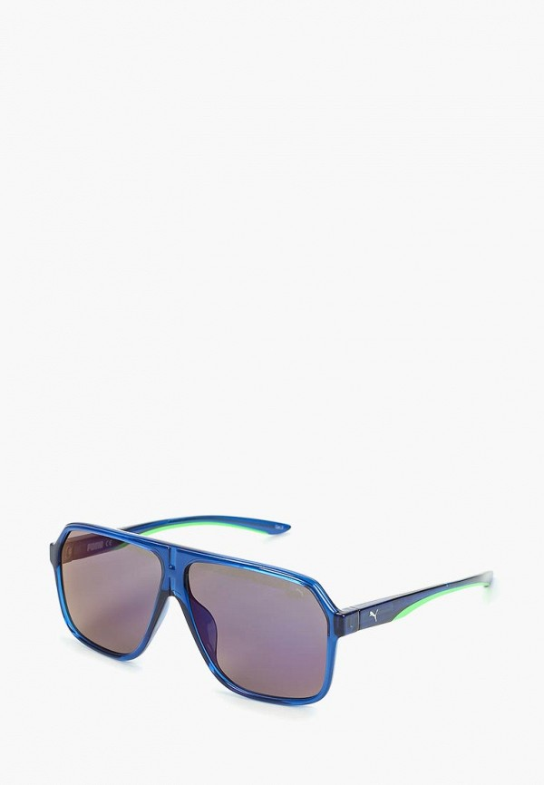 женские авиаторы солнцезащитные очки puma, синие