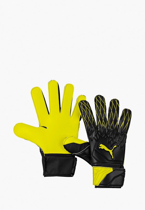 женские перчатки puma, желтые