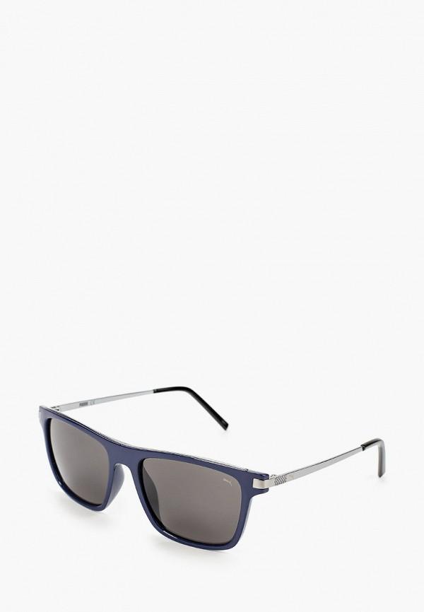 женские квадратные солнцезащитные очки puma, синие