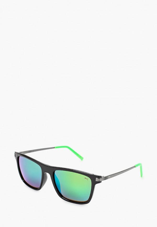 женские квадратные солнцезащитные очки puma, зеленые