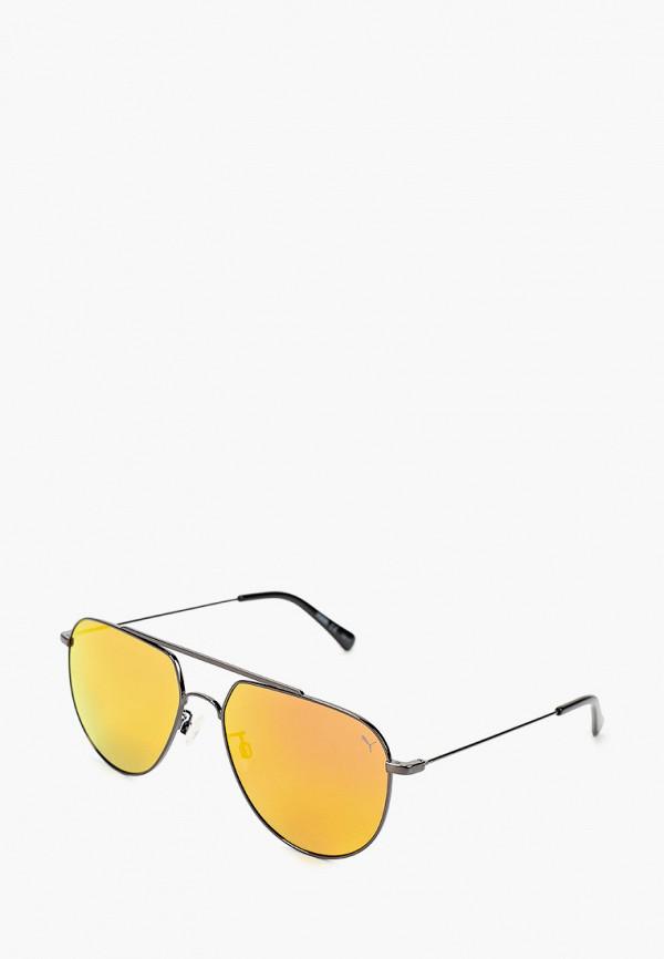 женские авиаторы солнцезащитные очки puma, оранжевые
