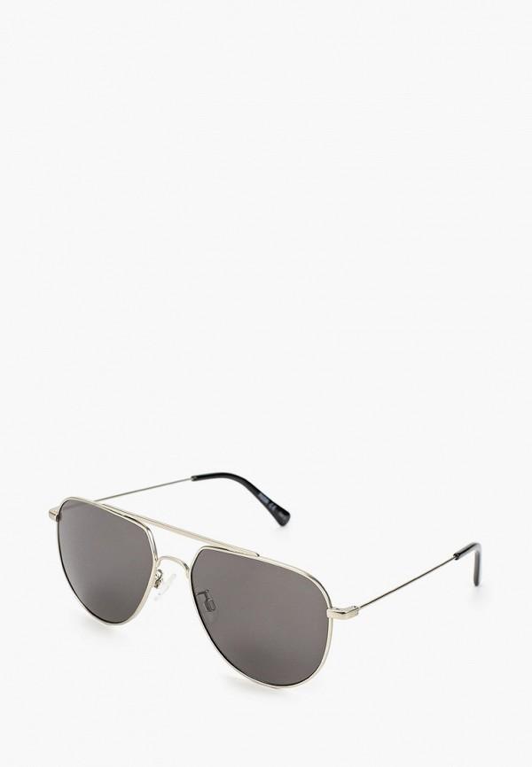 женские авиаторы солнцезащитные очки puma, серебряные