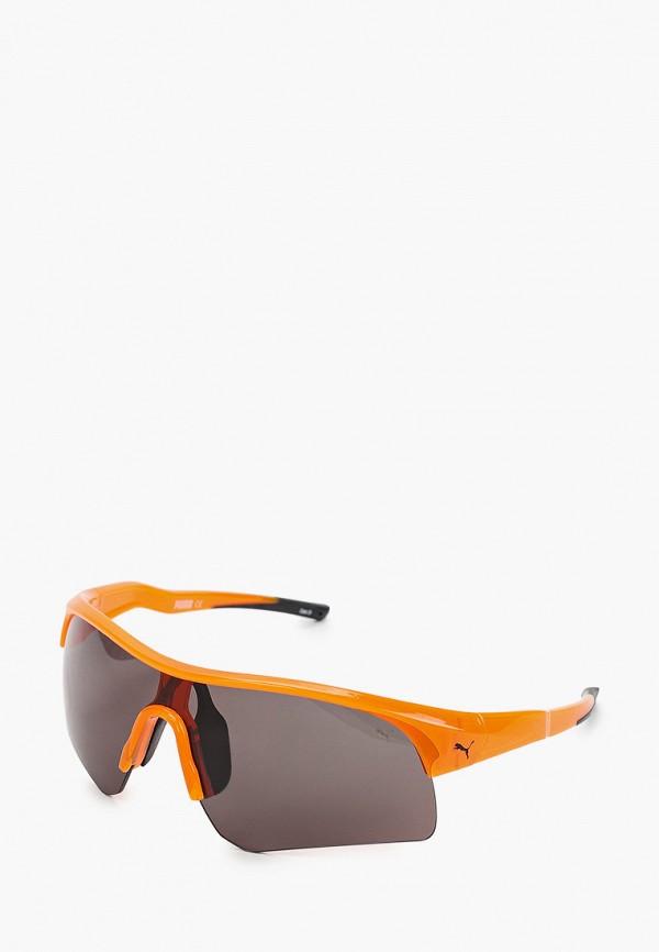 женские солнцезащитные очки puma, оранжевые