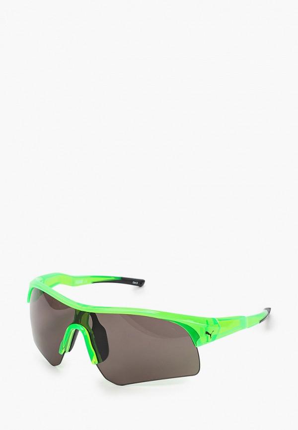 женские солнцезащитные очки puma, зеленые