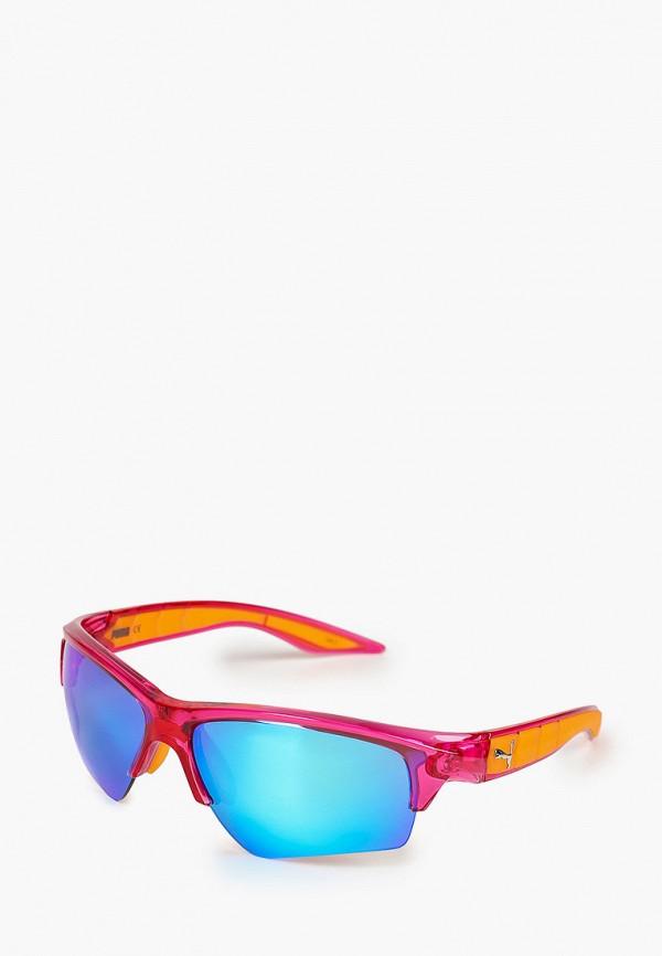 женские солнцезащитные очки puma, розовые