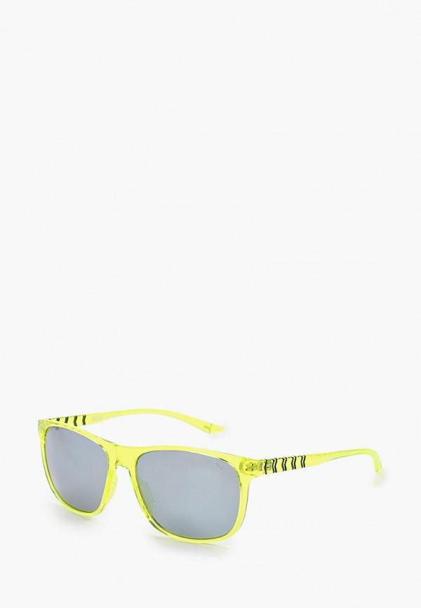 женские квадратные солнцезащитные очки puma, желтые
