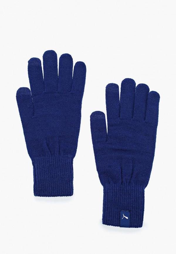 Купить Перчатки PUMA, PUMA knit gloves, PU053DUUTH78, синий, Осень-зима 2017/2018