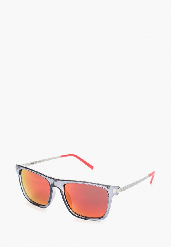 женские квадратные солнцезащитные очки puma, серые
