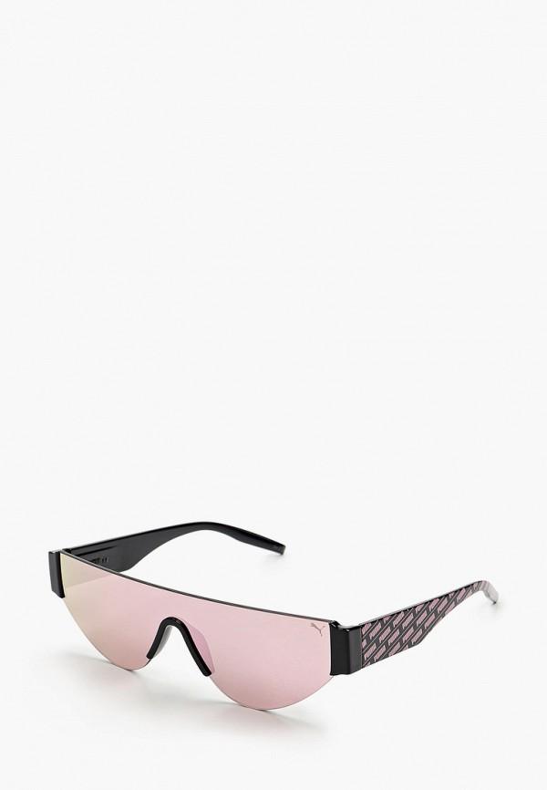 женские авиаторы солнцезащитные очки puma, розовые