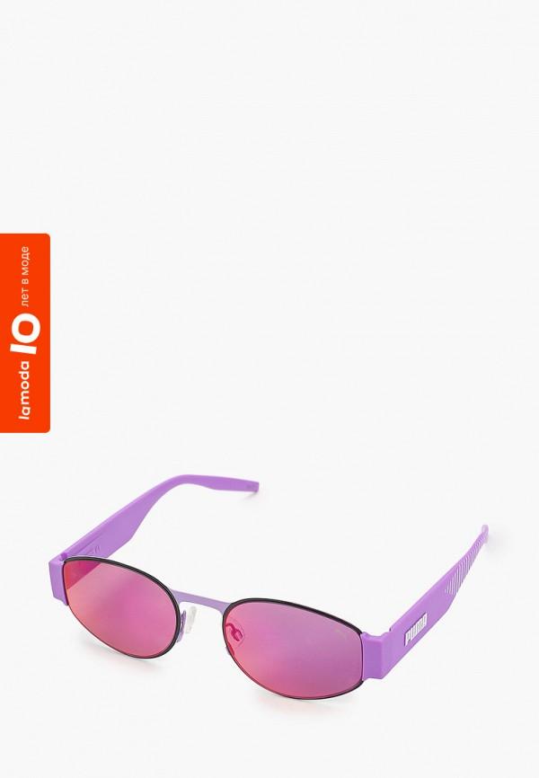 женские круглые солнцезащитные очки puma, фиолетовые