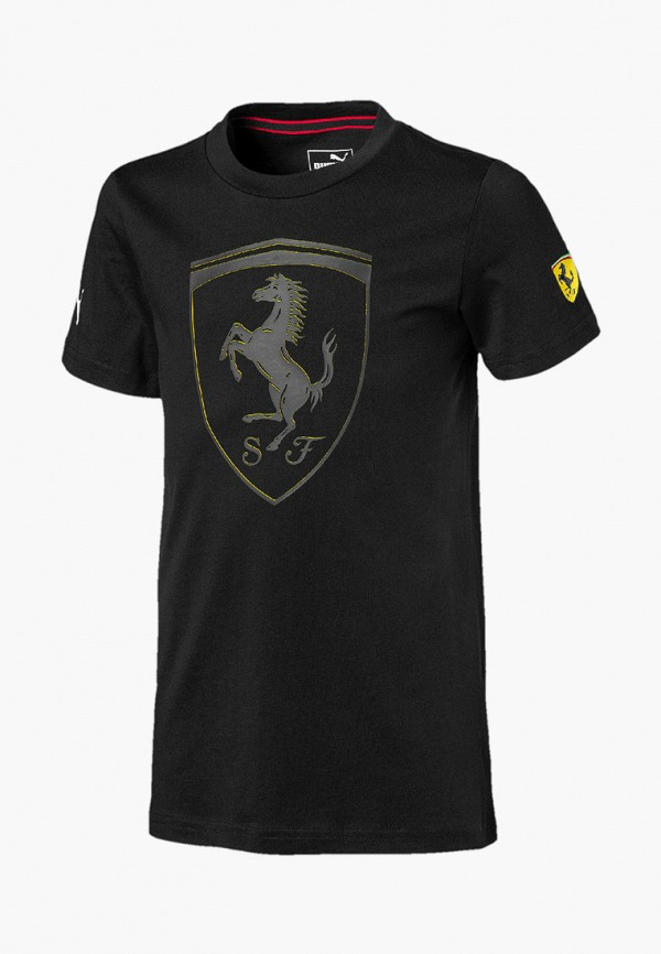 футболка puma для мальчика, черная
