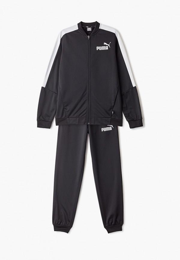 спортивные спортивный костюм puma для мальчика, черный