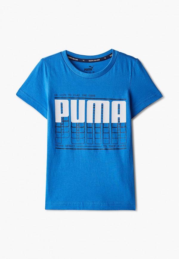 футболка puma для мальчика, голубая