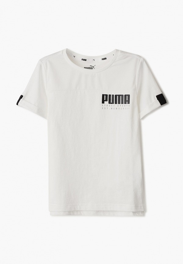 футболка puma для мальчика, белая