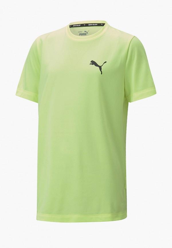 футболка puma для мальчика, зеленая