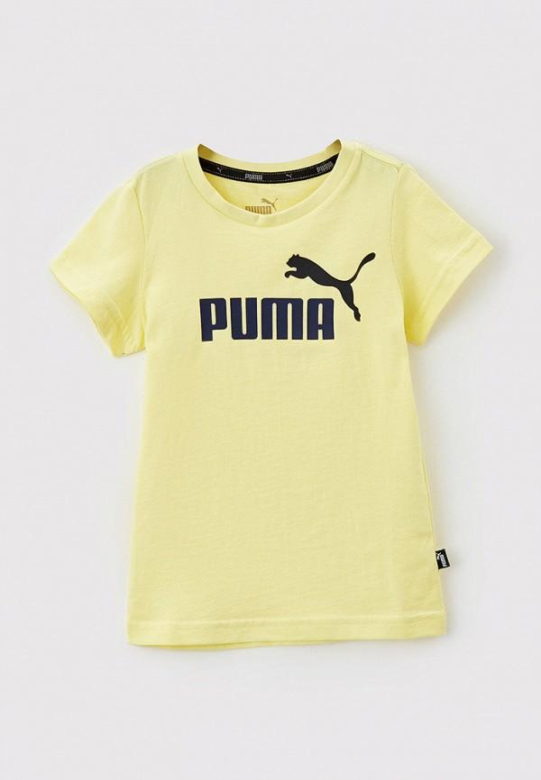 футболка puma для мальчика, желтая