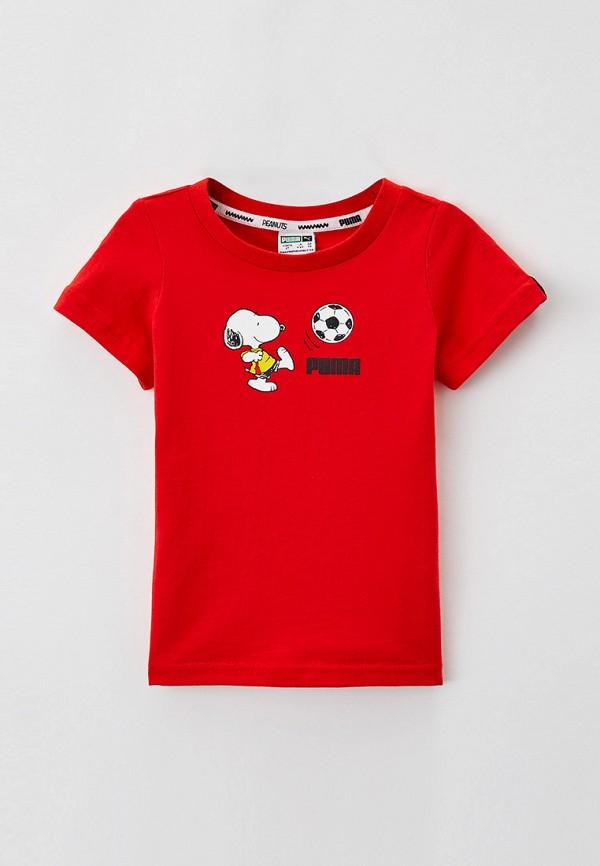 футболка puma для мальчика, красная