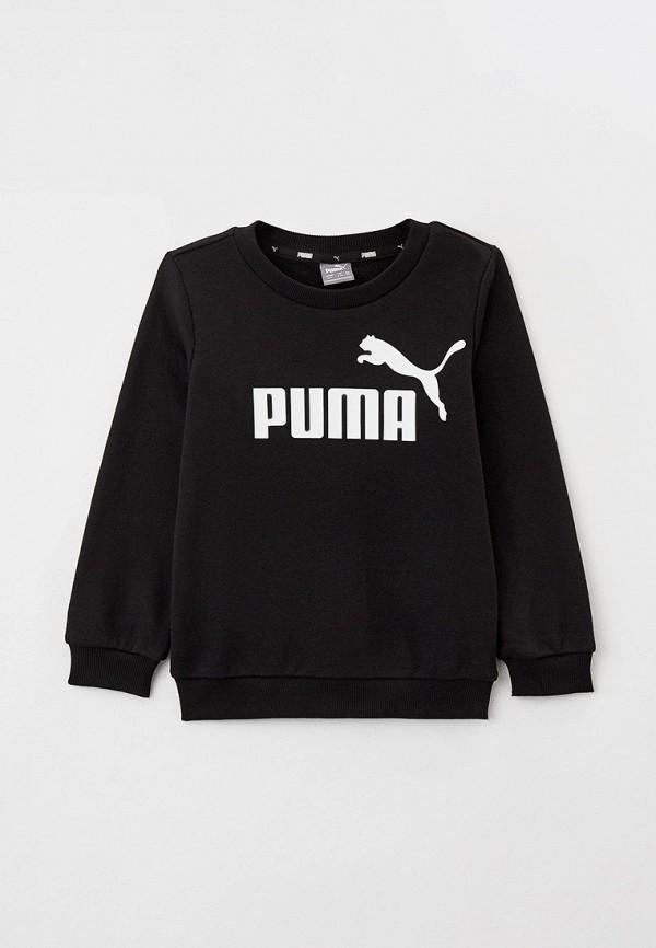 свитшот puma для мальчика, черный