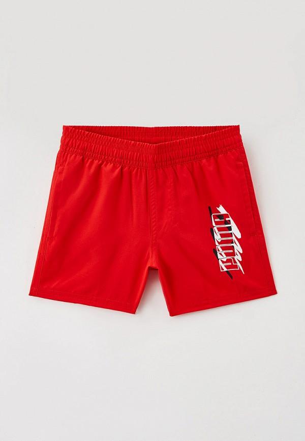 спортивные шорты puma для мальчика, красные