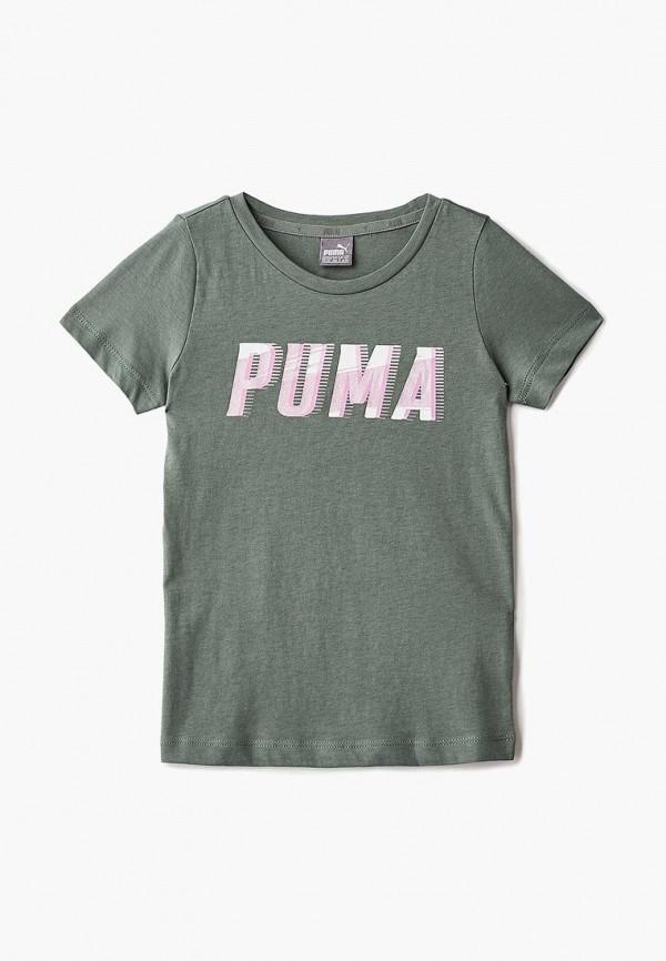 Купить Футболка PUMA, Style Graphic Tee 1 G, PU053EGCJFW7, хаки, Осень-зима 2018/2019