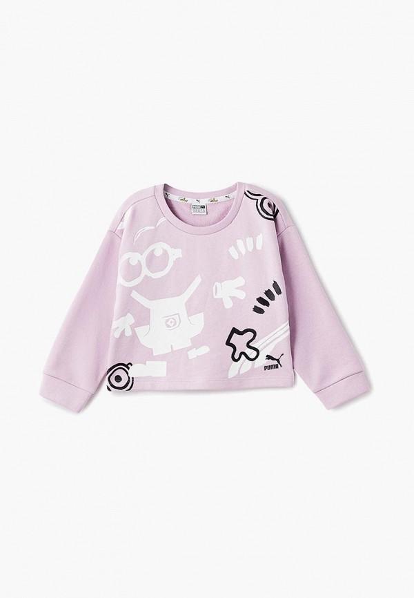 свитшот puma для девочки, розовый