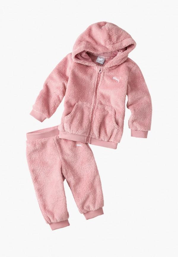 спортивные спортивный костюм puma для девочки, розовый