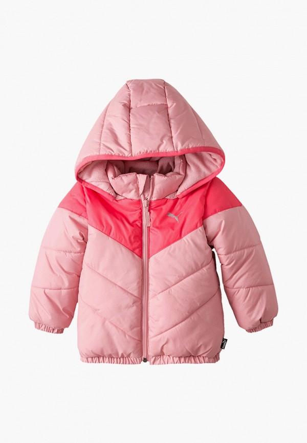 куртка puma для девочки, розовая