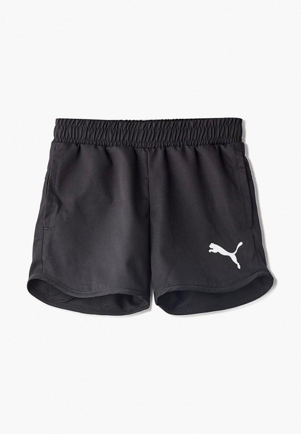 спортивные спортивные шорты puma для девочки, черные