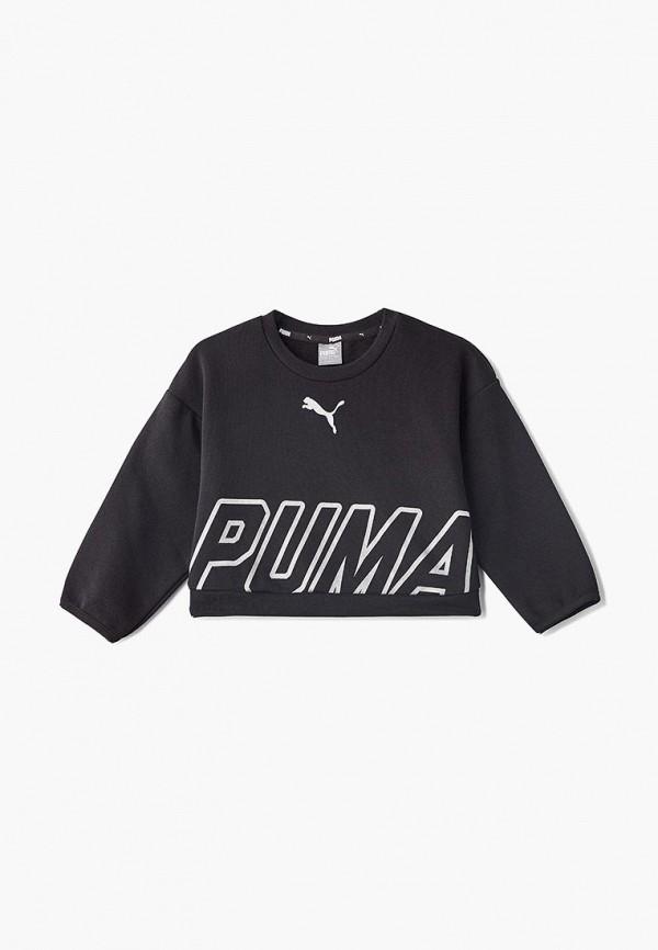 свитшот puma для девочки, черный