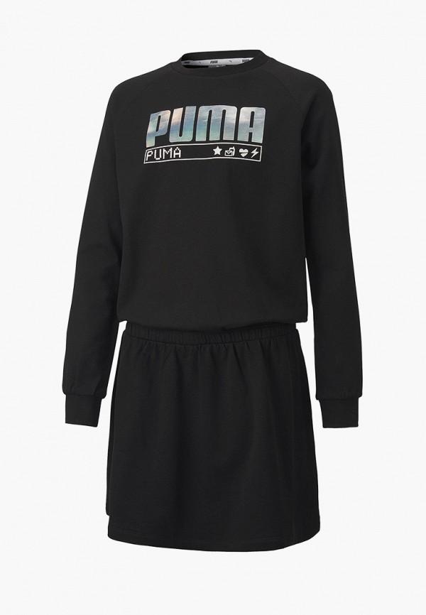 платье puma для девочки, черное