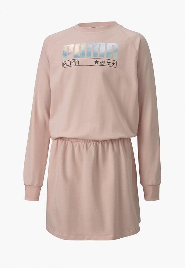 платье puma для девочки, розовое