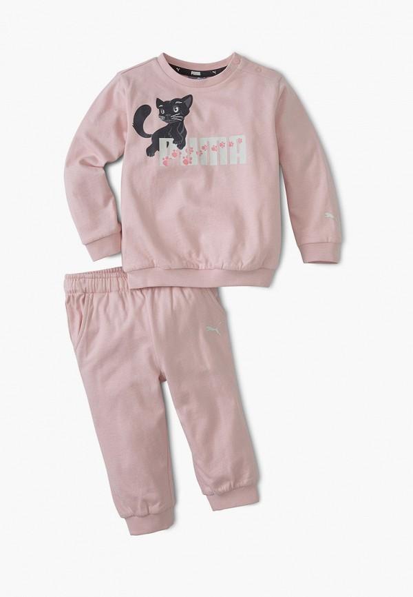 спортивный костюм puma для девочки, розовый