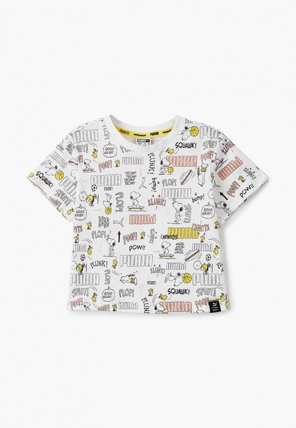 футболка puma для девочки, белая