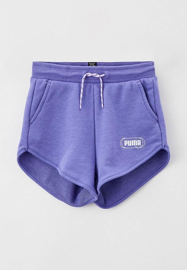 Шорты спортивные PUMA фиолетового цвета