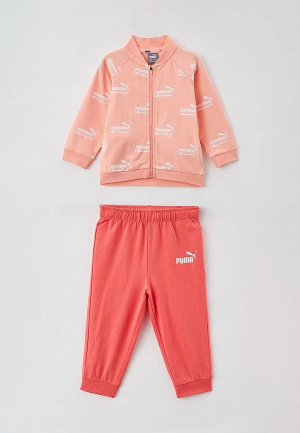 спортивный костюм puma для девочки, разноцветный