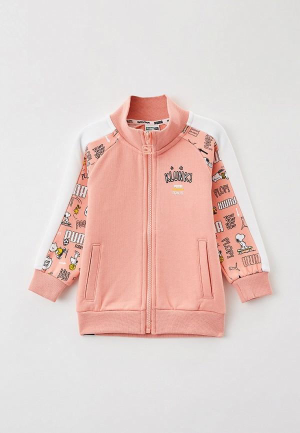 олимпийка puma для девочки, розовая