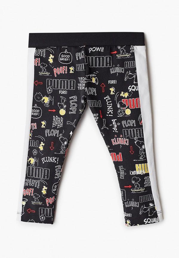 спортивные брюки puma для девочки, черные